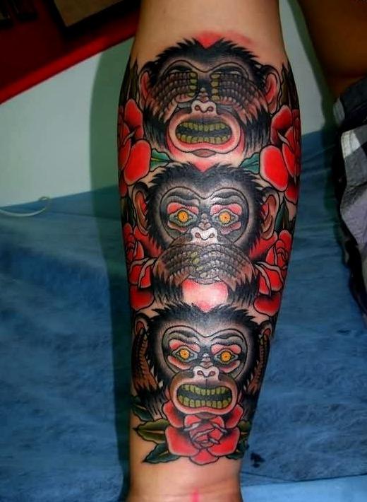 Tatuajes de monos