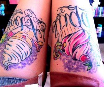 Tatuajes de caramelos y golosinas