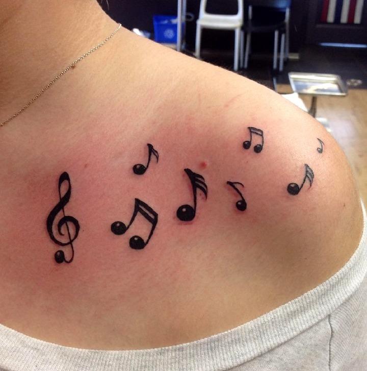 24 Ideas De Tatuajes Musicales De Hombremujer Fotossignificado