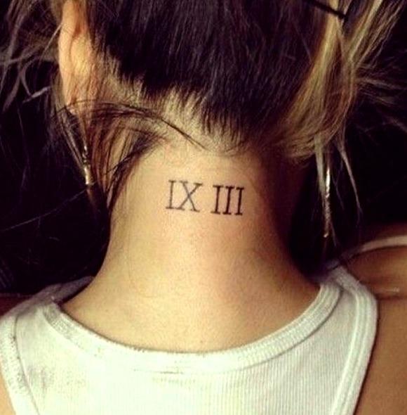 Tatuajes de números romanos