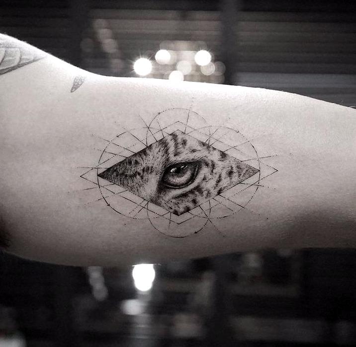 Tatuajes de ojos de leopardo