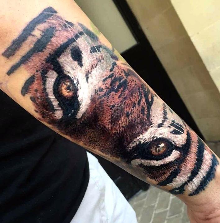 Tatuajes de ojos de tigre