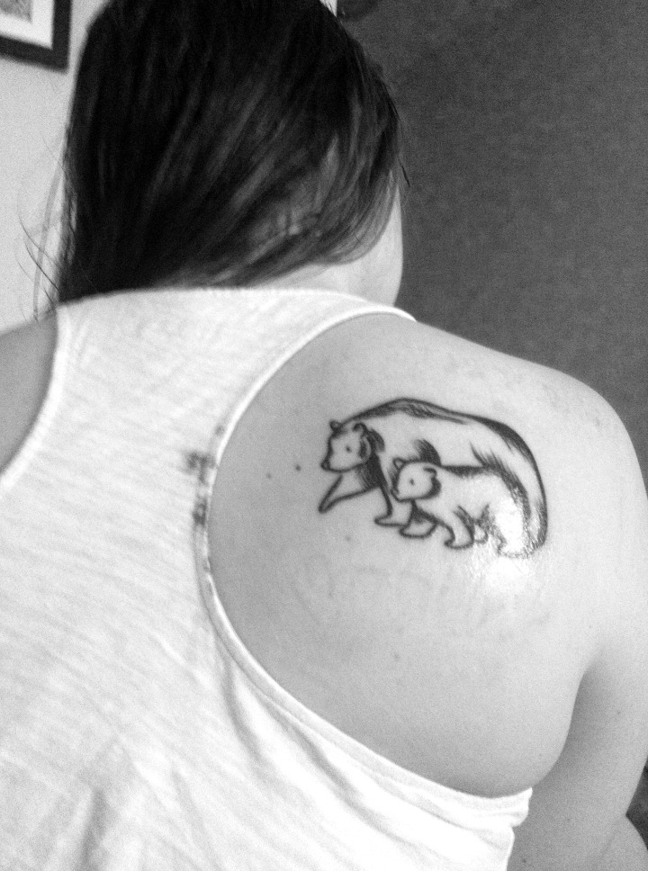 Tatuajes de osos bebés