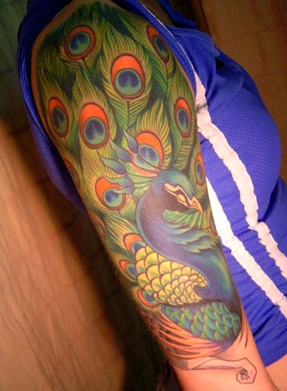 Tatuajes de pavo real