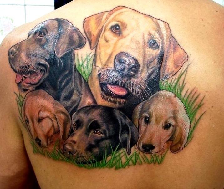 Tatuajes de perro labrador