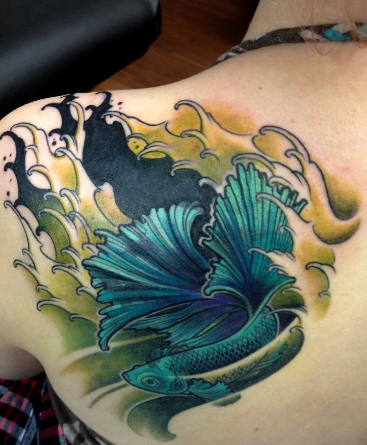 Tatuajes de pez betta