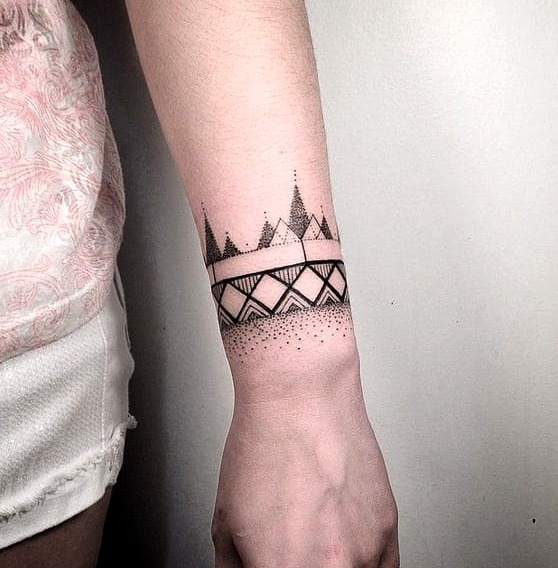 Las 21 Mejores Ideas De Tatuajes En La Muneca Hombre Y Mujer - Tatuajes-de-pulsera-para-hombres