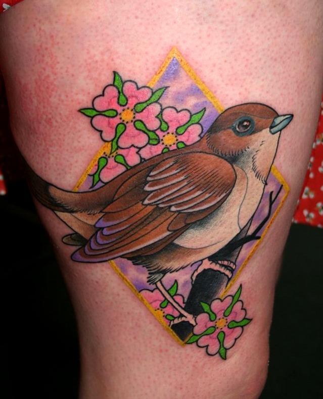 Tatuajes de ruiseñor