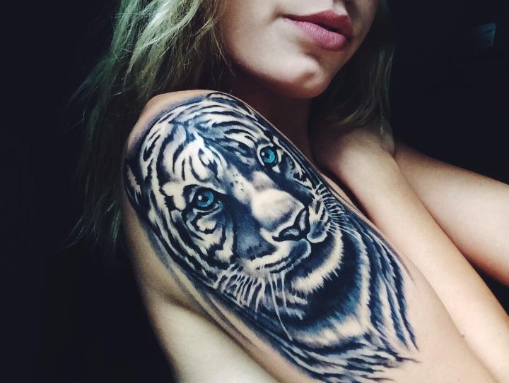Tatuajes de tigre blanco