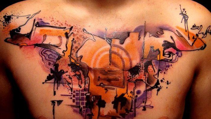 Tatuajes de toros al estilo acuarela