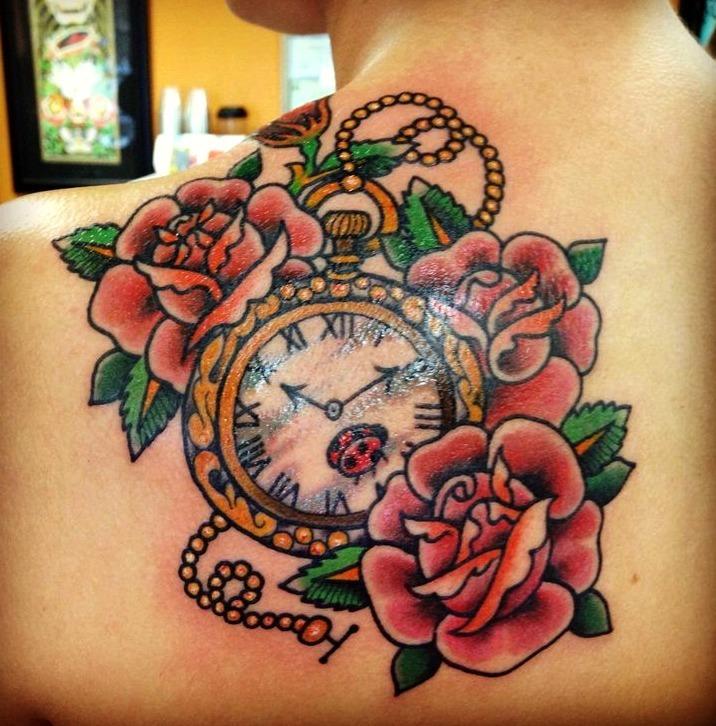 Tatuajes de un reloj de bolsillo