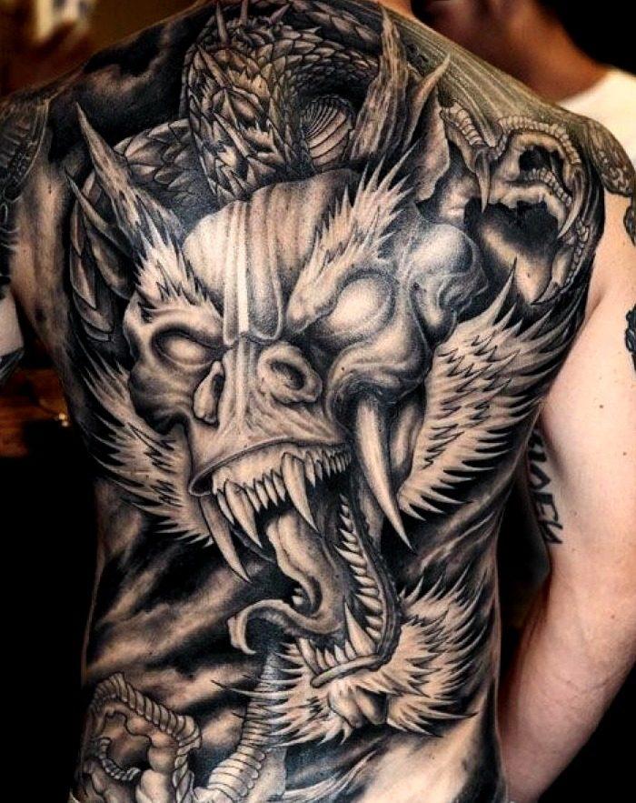 Tatuajes del dragón japonés