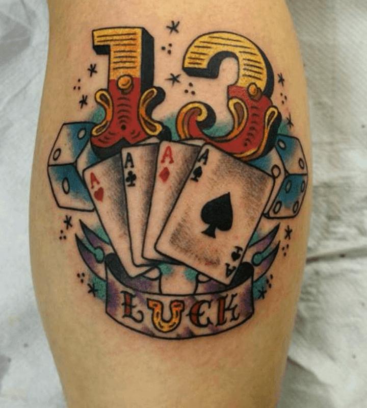 Tatuajes del número 13