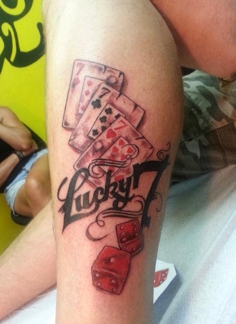 Tatuajes del número 7