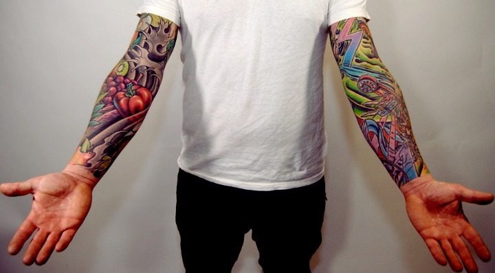 Tatuajes en el brazo de color