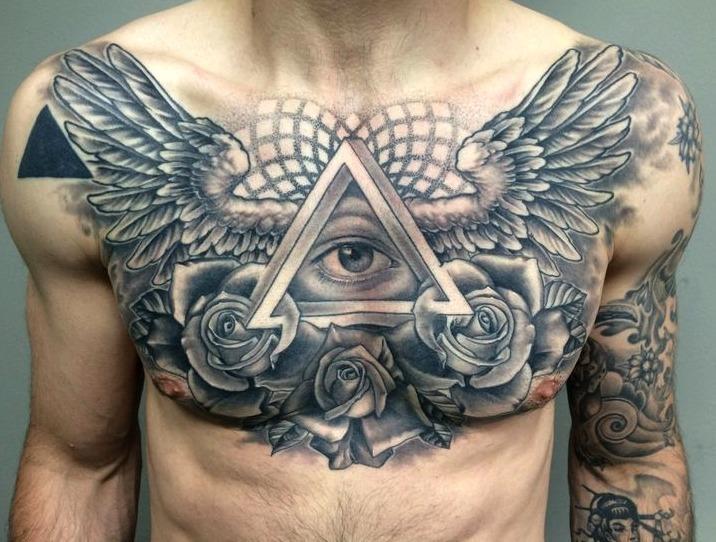 30 Ideas De Tatuajes En El Pecho De Hombremujer Significado