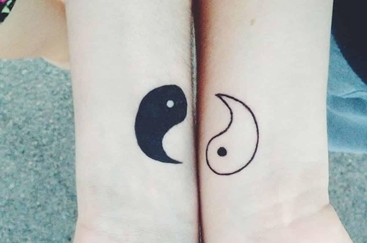 tatuajes ideas hermanos yin yang