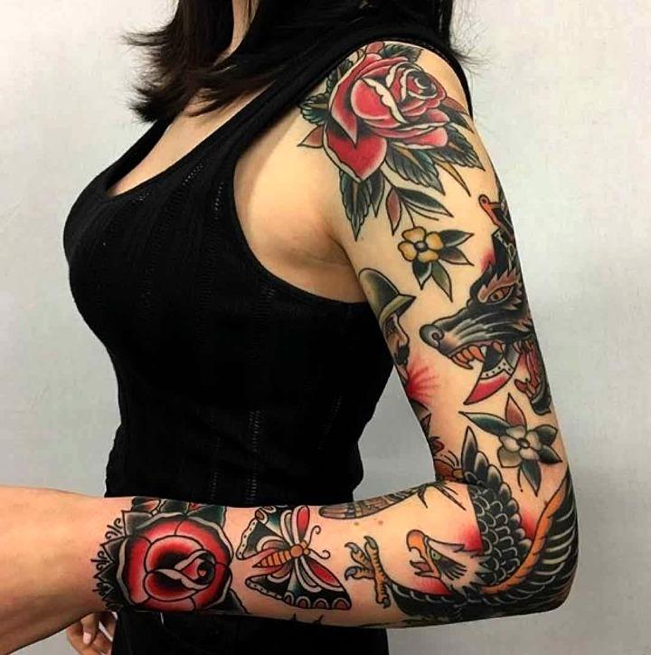 Tatuajes Old School para mujeres