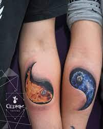 tatuajes yin yang hermanos